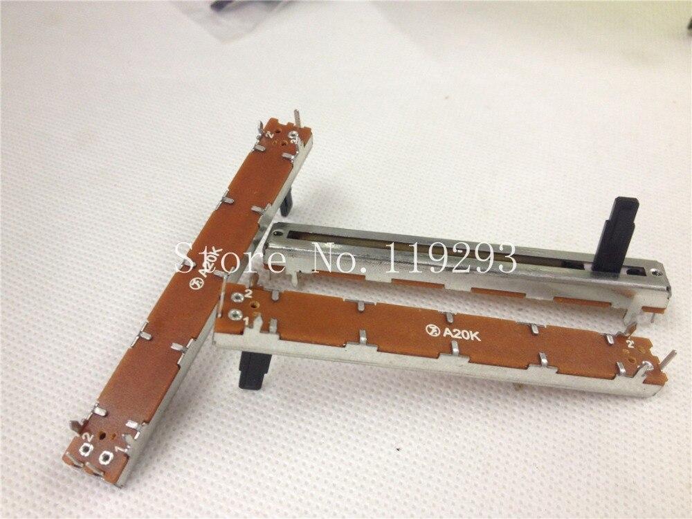 [Sa] taiwan polyshine f 6021 7.5 cm potenciômetros de corrediça a20k eixo de 15mm. -- 10 PÇS/LOTE