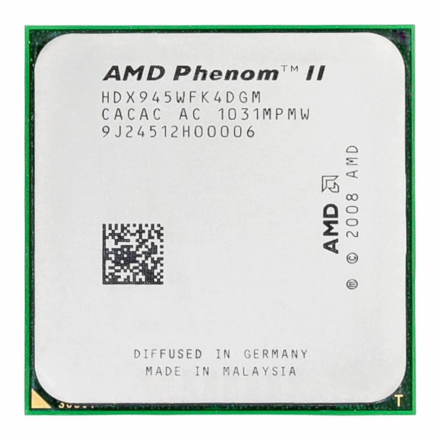 -Procesador AMD Phenom II X4 945, Quad-Core, 3,0 GHz, 6MB, L3, Cache...