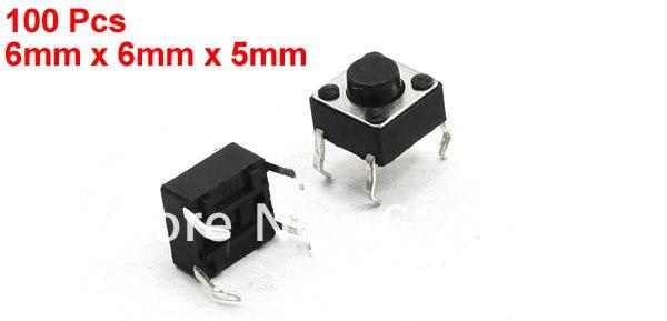 1000 piezas de 6mm x 6mm x 5mm 6x6x5mm 4 Pin 4 P interruptor táctil de botón de presión momentáneo de montaje en PCB
