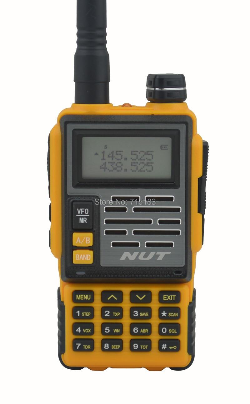 2014 New NUT AT-828UV Walkie Talkie UHF400-480MHz & VHF136-174MHz Dual Band 6W 128CH Portable Two-way Radio