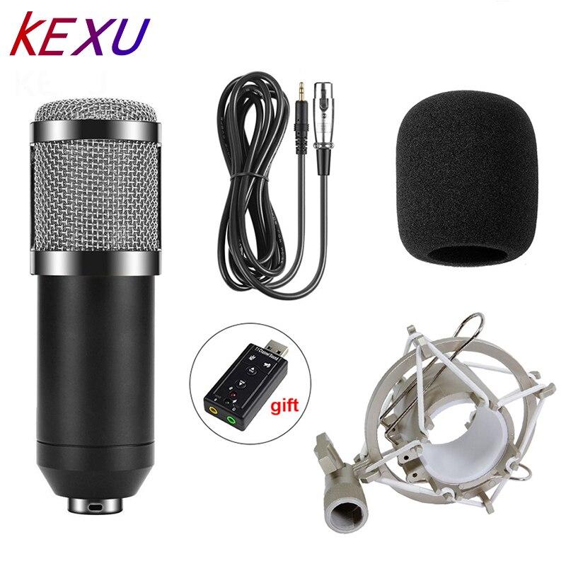 Micrófono condensador BM800 profesional para grabación de vídeo, micrófono de estudio de Radio para ordenador con soporte de descarga