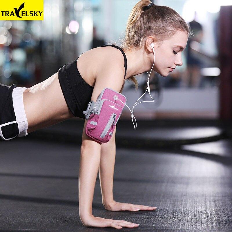 Deportes corriendo Jogging gimnasio brazalete banda soporte bolsa para teléfonos móviles bolsa de almacenamiento