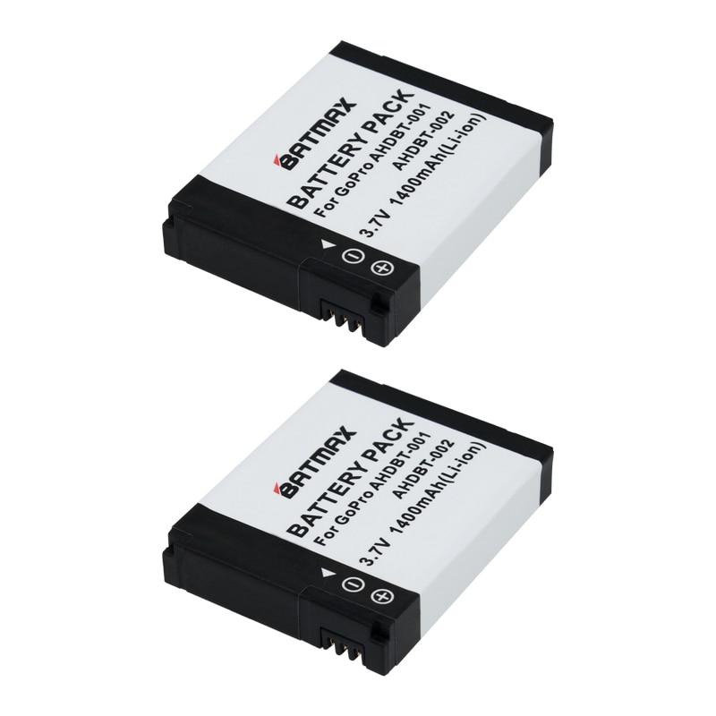 High-Capacity AHDBT-001 AHDBT 001 002 AHDBT-002 Battery for GoPro Go Pro HD Hero 1 2 Hero1 Hero2 Motorsports Surf Outdoor 960