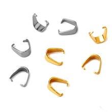 REGELIN 100 pièces/lot 6x7mm en acier inoxydable pendentif Clips fermoirs pince pince Bail perles pendentif connecteurs pour collier bricolage bijoux