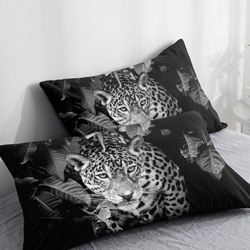 Funda de almohada personalizada 3D HD, 2 uds., funda de almohada 50x7 0/50x7 5/50x8 0/70x70, funda decorativa para cojín Animal leopardo blanco, ropa de cama Envío Directo