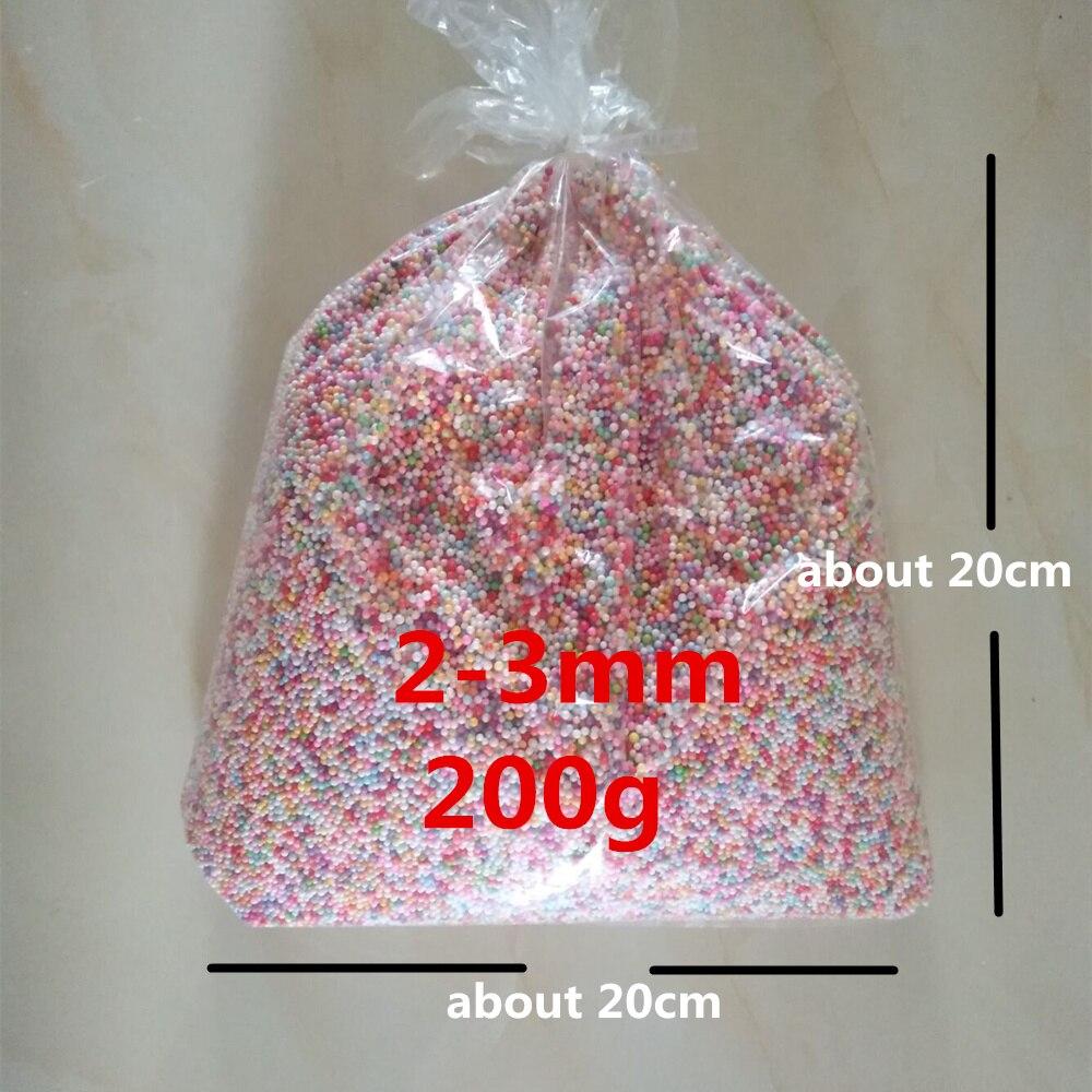 200g/30g Macarons colores claros Pastel bolas de espuma de poliestireno colorido relleno de espuma de poliestireno Mini bolas de espuma artesanales