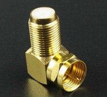 Connecteur TV F mâle plaqué cuivre or   5 pièces, adaptateur à Angle droit, connecteur TV F à 90 degrés