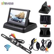 "4.3 ""LCD Opvouwbare Monitor Auto Achteruitrijcamera Kit + Wireless 7 IR Nachtzicht Auto Omkeren Parkeergelegenheid Backup Camera waterdicht"