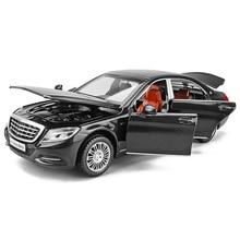 1/32 S600 Modellen Diecast Metalen Automodellen Hoge Simulatie Voertuig Speelgoed Met Licht Muziek 6 Deuren Kunnen Worden Geopend Geschenken voor Kinderen