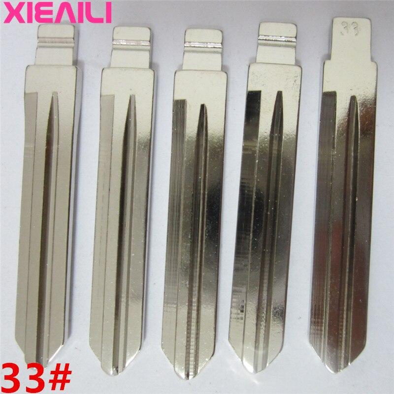 XIEAILI 50 unids/lote 33 # blanco en blanco sin cortar Flip KD hoja de llave de control remoto para Hyundai Sonata NF S195