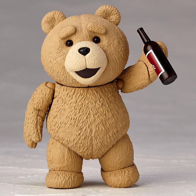 Película TED 2 10cm caja oso de peluche Ted BJD figuras en miniatura de juguete
