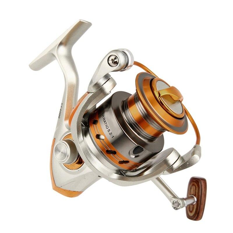 Spinning carrete de pesca 6000 fibra de carbono Spinning Spindle agua dulce carrete de pesca Metal Rocker Reel mejora