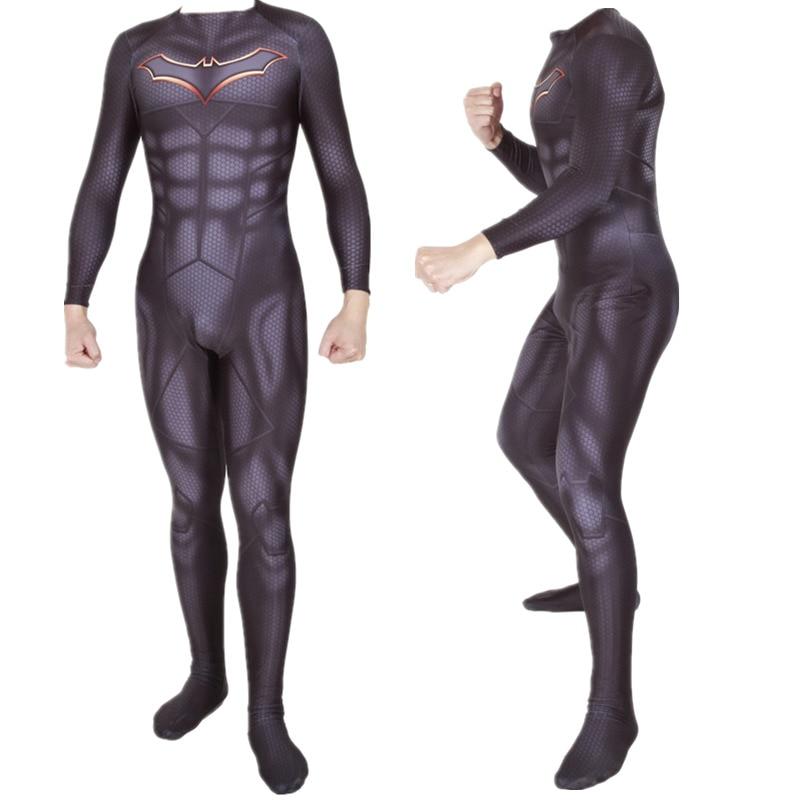 Superhero Batman Rebirth Bruce Wayne Cosplay Costume Zentai Bodysuit Suit Jumpsuits