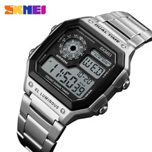Sport Uhren Männer Zählen Unten Wasserdichte Uhr Edelstahl Band Mode Kreative Digitale Armbanduhren Uhr für Ronan Matos