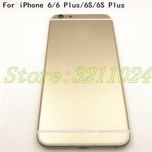 Новинка для iPhone 6 6S 6 P задняя крышка батарейного отсека для iPhone 6G 6 Plus 6S Plus задняя крышка батарейного отсека средняя рамка Шасси с деталями