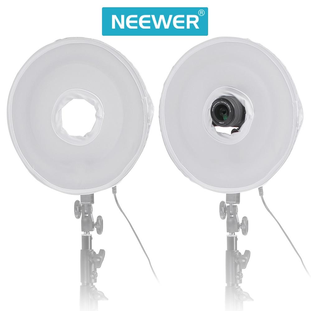 Neewer 35cm/14 pulgadas plegable fotografía Video luz Softbox difusor para Neewer 400W anillo de luz fluorescente