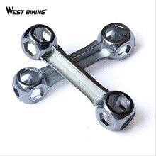 WEST vélo outils clés à os 10 trous 6-15mm en alliage de Zinc chien os forme vélo hexagone os clés outils de vélo