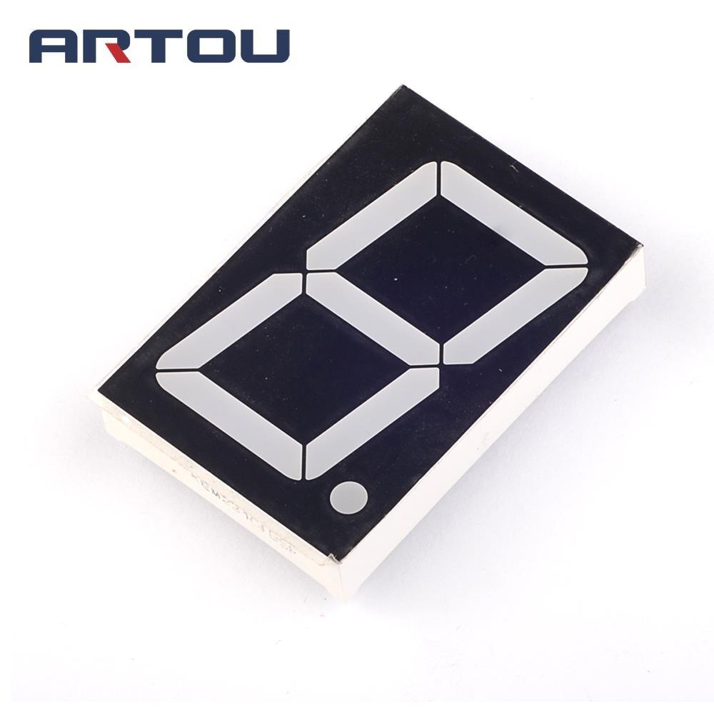 "10PCS Common Anode 1Bit Digital Tube 7 segment 1.8"" inch Red LED Display"