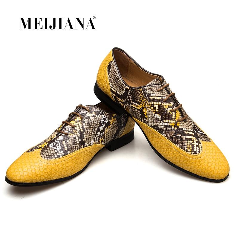 MeiJiaNa najwyższej jakości skórzane męskie buty sukienka, marka człowiek biznesu oksfordzie buty