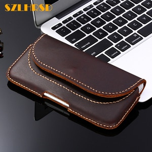 SZLHRSD For ASUS ROG Phone ZS600KL Case Genuine Leather Holster Belt Clip Pouch Funda Cover Waist for ASUS ROG Phone Phone Cases