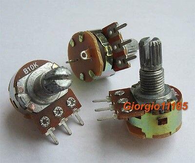 100pcs Potentiometer Pot B10K 10K ON OFF Switch Linear shaft 15mm