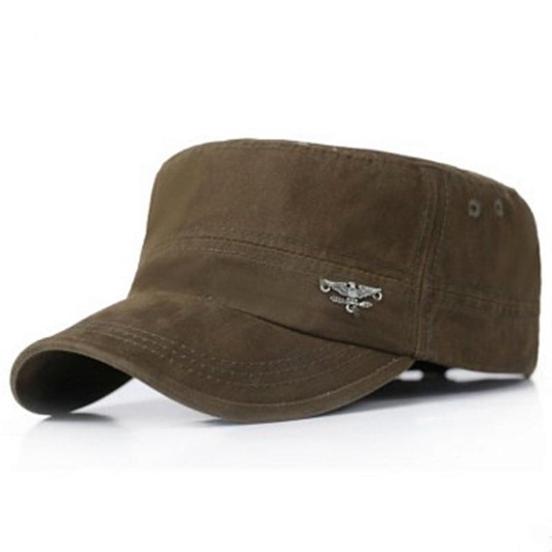 Мужские шапки для взрослых, модные хлопковые шапки в стиле милитари на весну и лето 2018, Регулируемая Повседневная шляпа для водителя грузовика с плоской крышей, шляпа для папы и ребенка