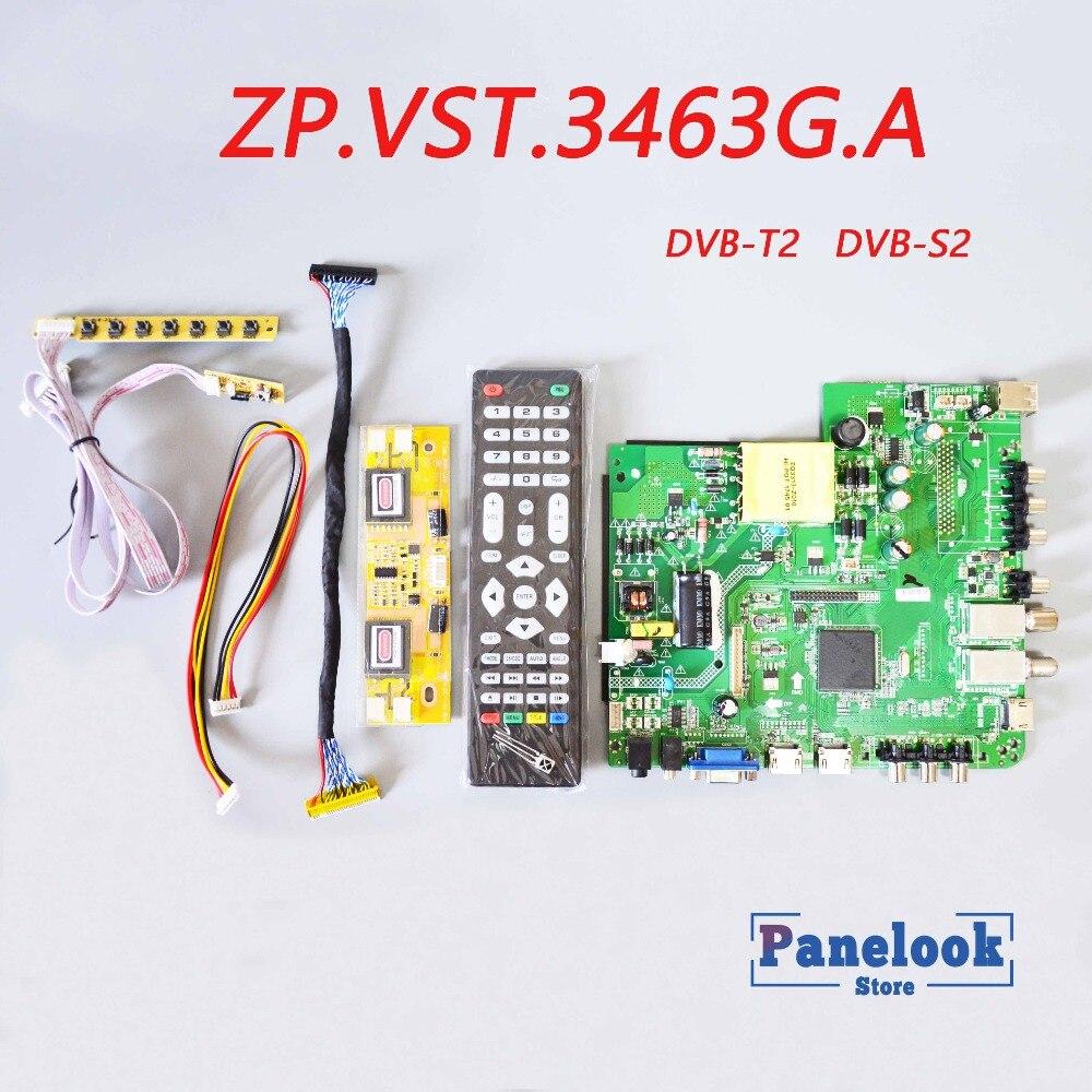 جديد ZP.VST.3463G. العالمي الرقمية مجلس سائق يدعم DVB-T2 / DVB-S2 / DVB-C + 7 مفتاح التبديل + 4 مصباح العاكس + LVDS + دوبونت