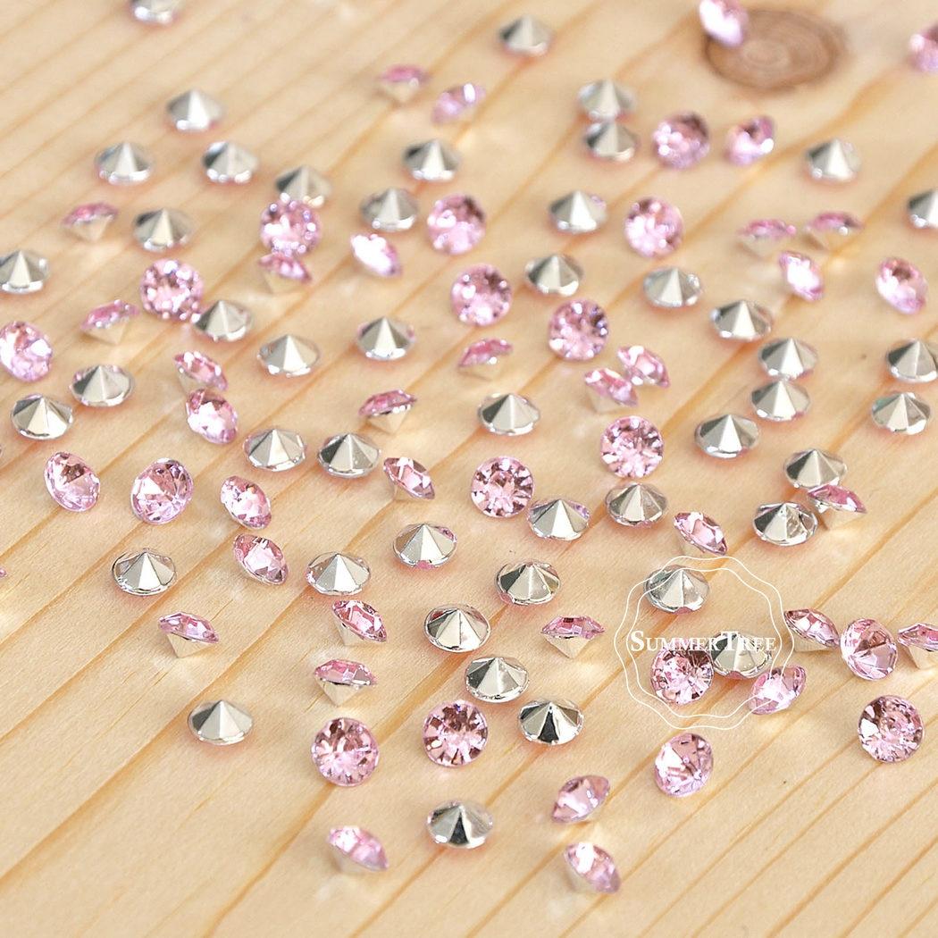 1000 unids/pack diamante Artificial confeti Mesa mesa de mármol mesa de cristal Mesa dispersión nupcial ducha decoración para fiesta de boda 4,5mm 1/3 quilates