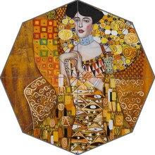 Gran oferta, paraguas plegable a la moda de diseño Universal para adultos Gustav Klimt, ¡buen regalo!, envío U30-08