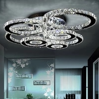 led ceiling light fixture modern k9 crystal luminaries surface mounted ring lamp crystal lustres lighting for bedroom home decor