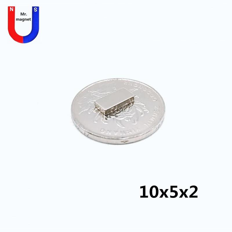 100/500/2000 pcs 10x5x10x5x2 2mm ímã permanente Super potente Mini 10*5*2 Pequeno Ímã de Neodímio NdFeB Forte Cubóide Ímãs