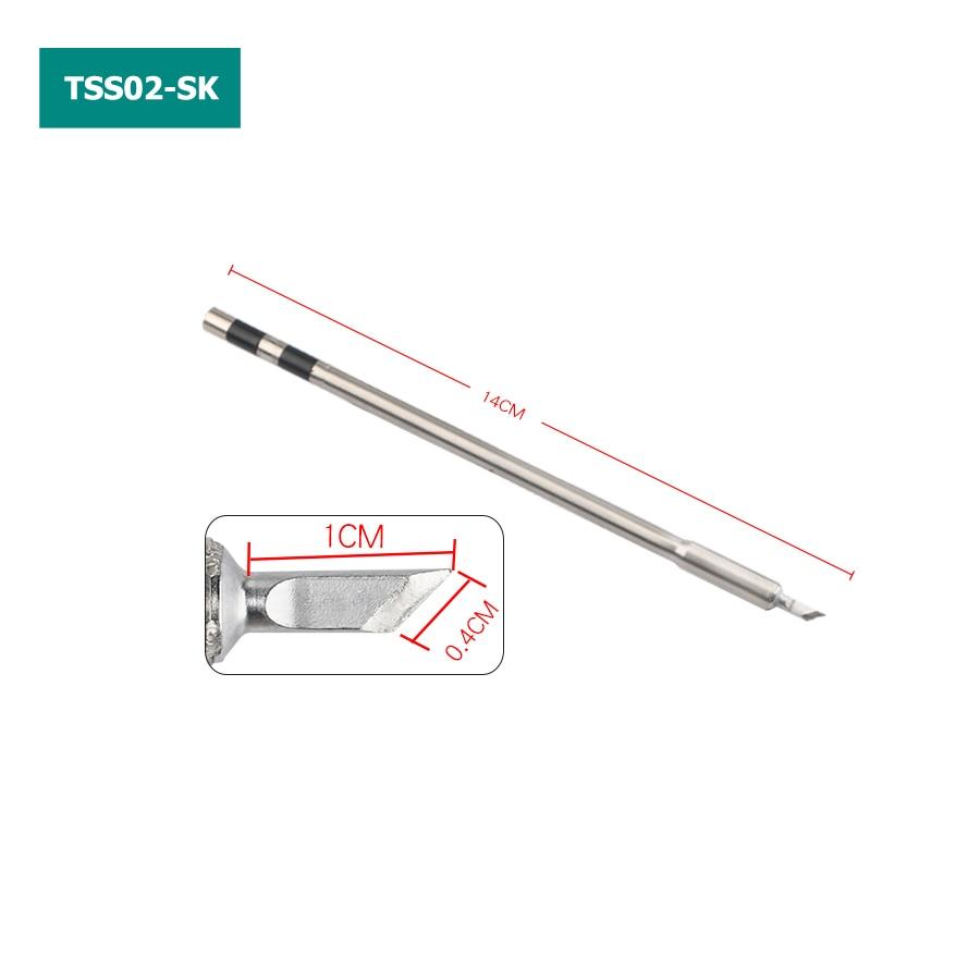 Original Quick TS1200A Soldering Iron Tip TSS02-I J SK 3C 0.8C SK-01 K 1C 2C Solder Iron Tip For Mobile Phone Motherboard Repair