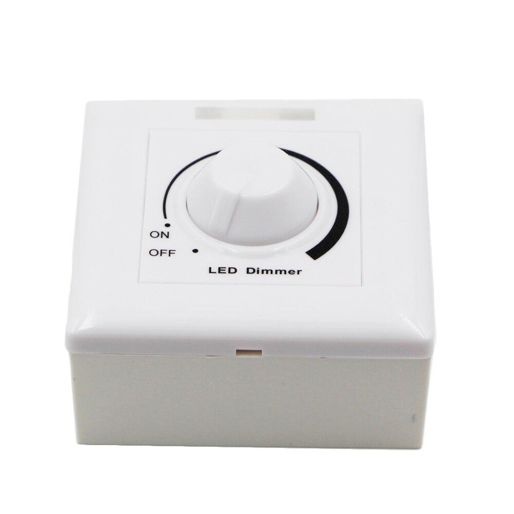Regulador de intensidad LED de 12V - 24V CC, interruptor ajustable, controladores de panel de brillo para tira de luces led 5050 5630 regulable