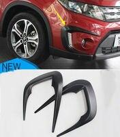 ABS Front Fog Eyebrow Lamp Cover Trim For Suzuki Vitara Escudo 2015 2016 2017