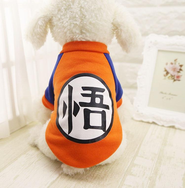Маленькая собака одежды любимчика Dragon Ball Гоку свитер футболки теплая одежда Костюм Собака Одежда для собак игры талисман для чихуахуа одежда для собак