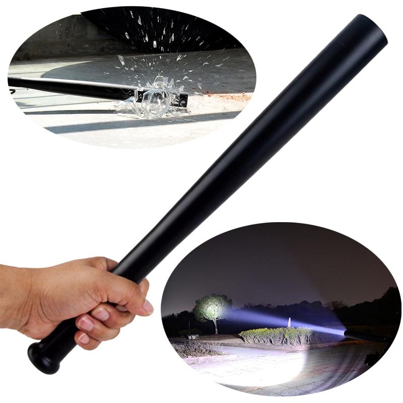 Linterna de bate LED, linterna, linterna superbrillante de bate de béisbol, linterna de Flash de policía de defensa personal, linterna táctica de 3 modos AA
