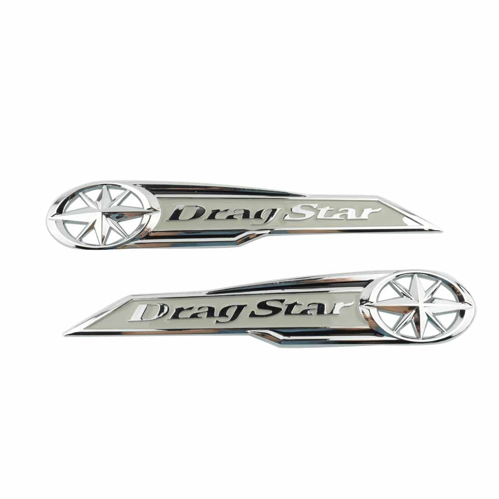 Мотоцикл 3D Бензобак/Faring боковая эмблема значок стикер для Yamaha Dragstar XVS XV Custom Midnight