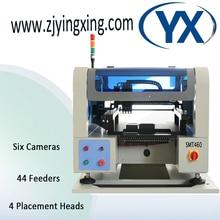 SMT460 6 Camera+4 Heads And JUKI Nozzle BGA LED Chip Mounter Machine SMD Soldering Machine 44 Feeders