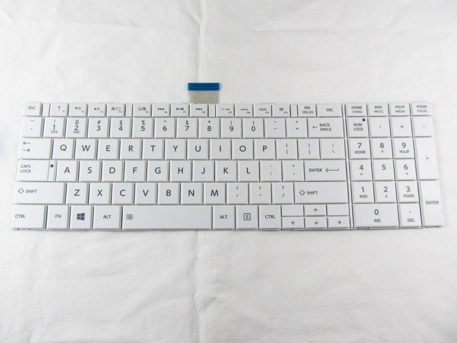 For Toshiba Satellite C855 C855D C855-S5236 C855-S5214 C855-S5206 Laptop Keyboard White