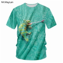 3D Digital Print Lizard Tongue Tshirt Women/Men Funny Hipster Hiphop Green T-shirt Boy Pullover T shirt Tee Clothes camisetas