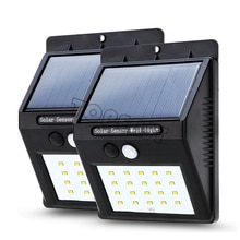 2 pcs/lot 20 LED extérieur LED sans fil solaire alimenté capteur de mouvement lumière sécurité lampe détecteur étanche