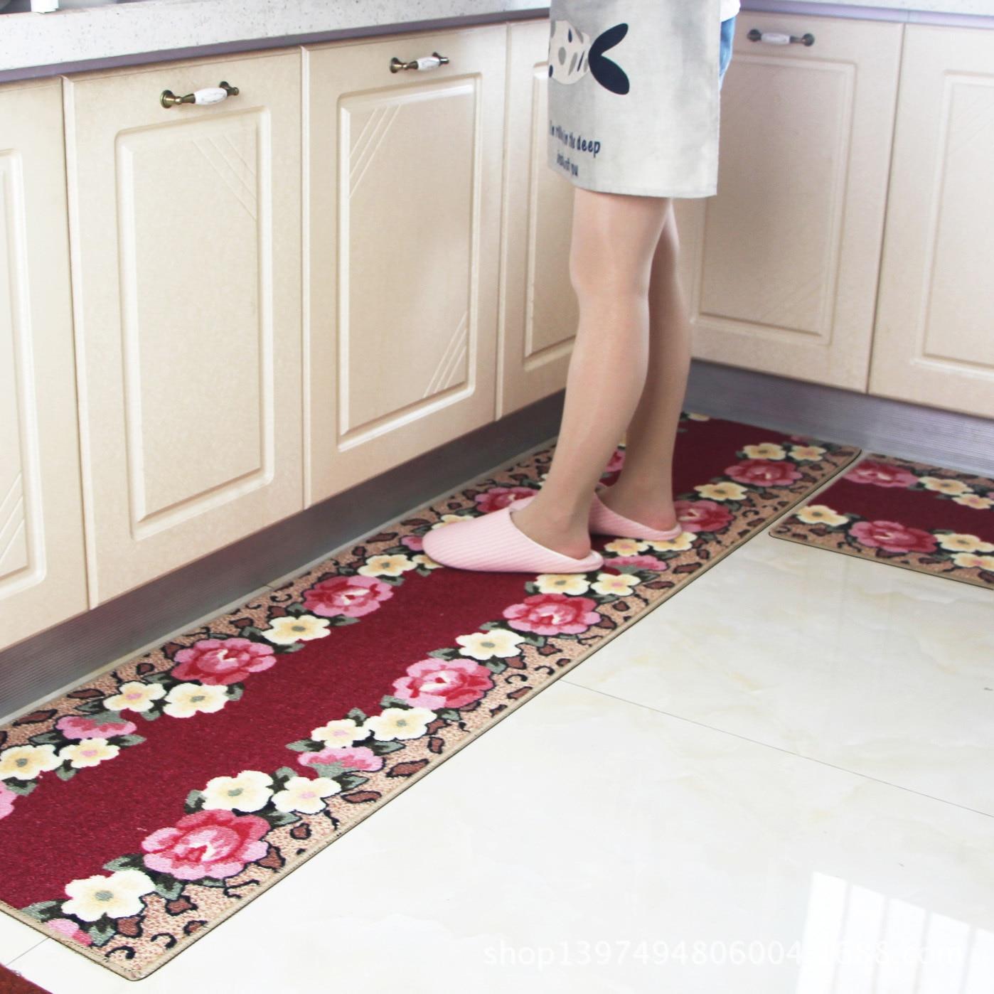 פרח מטבח שטיח גומי מחצלת אנטי להחליק אמבטיה שטיח לספוג מים מטבח בית שטיח שפשפת כניסת נמר תבואה קצף מחצלת