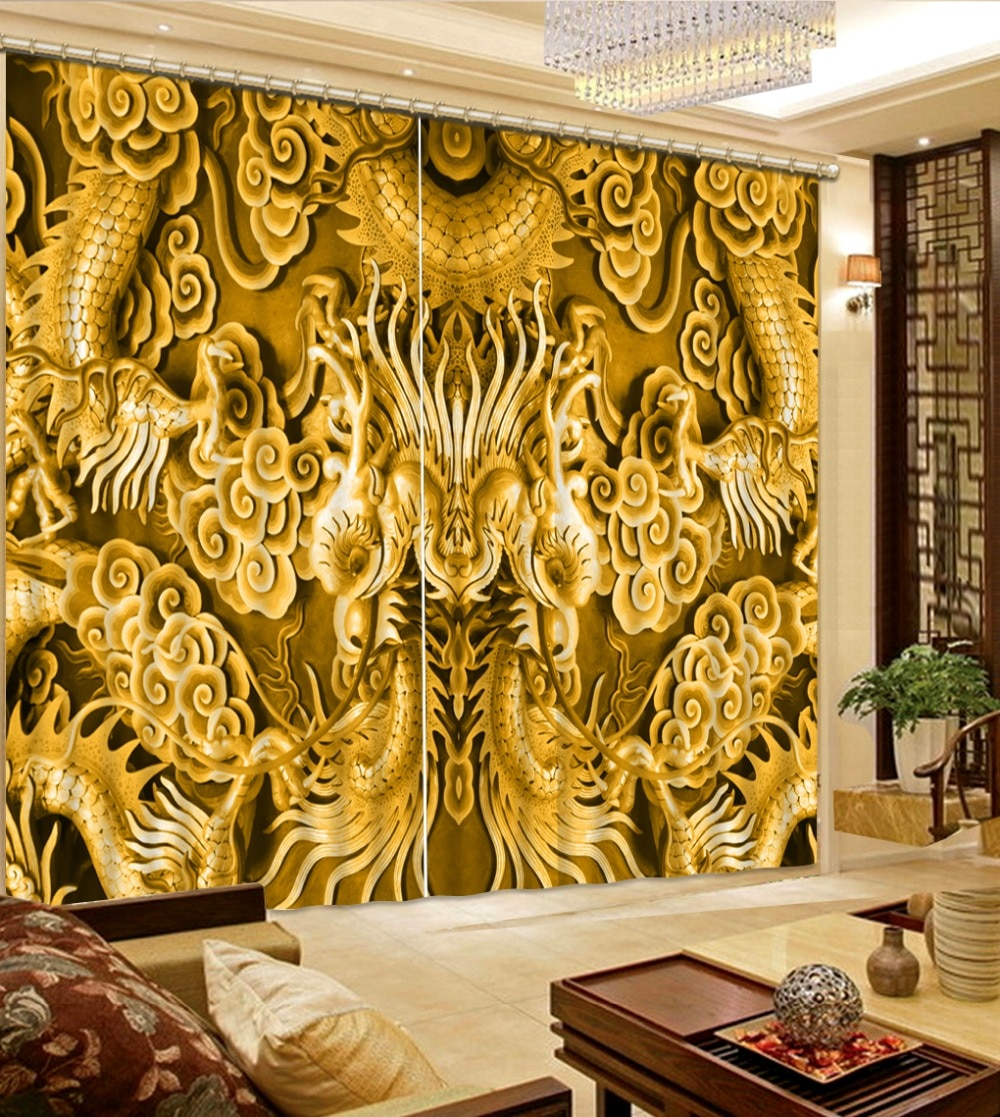 Fábrica diret venta 3D cortinas de ventana para ropa de cama Sala cortina ventana habitación decoración del hogar
