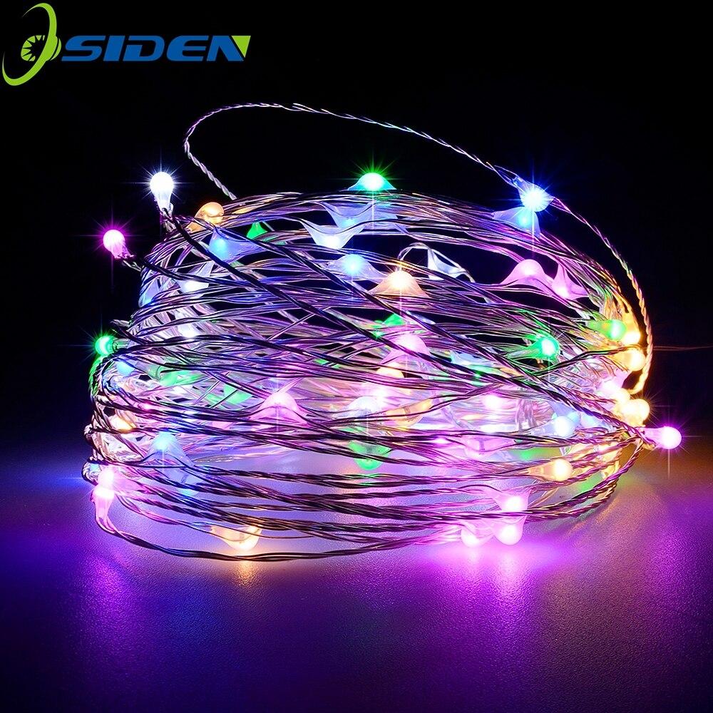 Cuerda de 12V luces de 16.5ft 33ft con cable de cobre Flexible impermeable inalámbrico vacaciones decorativas LED luces al aire libre interior