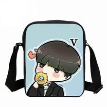 Coréen B sacs mignon dessin animé impression Messenger sacs avec SUGA Rap monstre JIN J-HOPE JUNG KOOK JIMIN V sacs à bandoulière