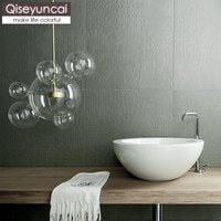 Qiseyuncai Nordic restaurant creative chandelier postmodern minimalist molecular glass ball bubble light cafe bar bar lighting