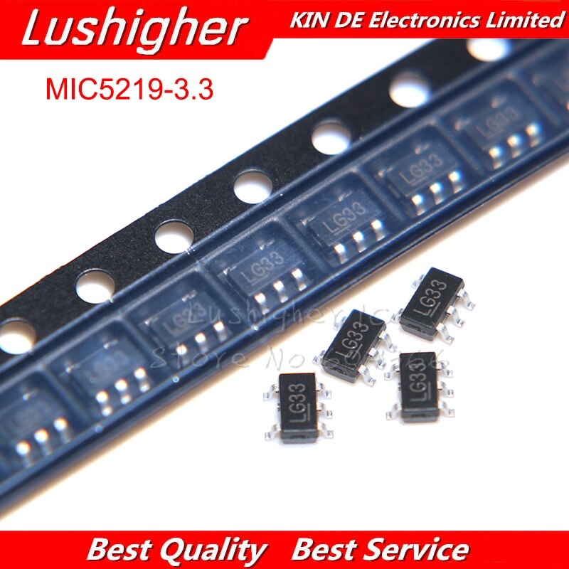 MIC5219-3.3YM5 MIC5219-3.3 SOT23-5 LG33