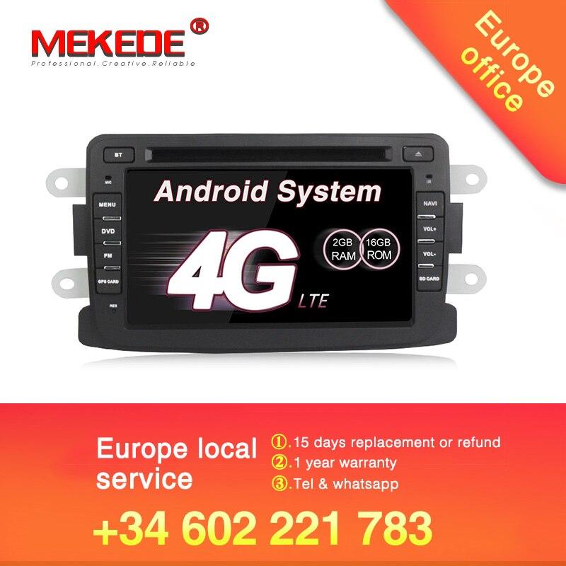 ¡Libre de impuestos de la UE! El mejor reproductor de radio y DVD para el coche de Android7.1 para el plumero de Dacia con estéreo de Sandero y navegación GPS 4G WIFI BT RDS