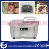 Machine de scellage sous vide automatique en acier inoxydable pour aliments secs et humides commerciale double chambre DZ-500