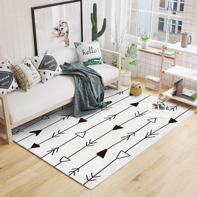 جديد INS المغرب نمط البيج الأبيض نمط هندسي غرفة المعيشة البساط ، الرعوية ديكور المنزل سجادة غرفة النوم ، الشمال الكلمة حصيرة